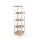 組 - 特力屋萊特 組合式層架 白框/淺木紋色 40x40x158cm