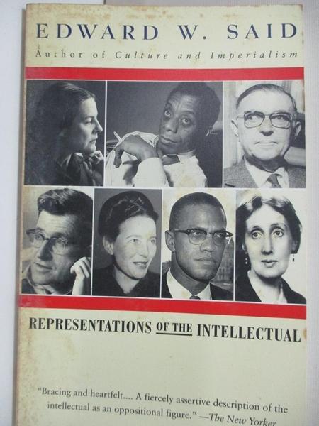 【書寶二手書T9/原文小說_HPR】Representations of the Intellectual: The 1933 Reith Lectures_Said, Edward W.