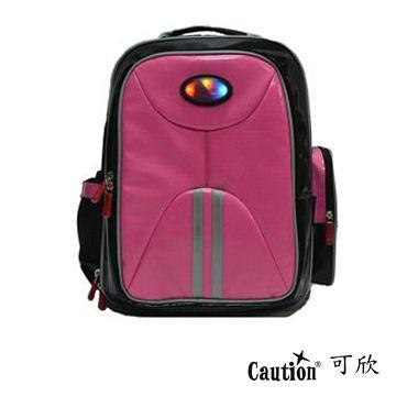 兒童 學生 書包(會發亮的書包) Caution可欣 1014 可愛粉