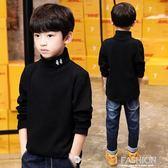 童裝男童高領打底衫兒童加絨加厚保暖上衣大童純棉長袖T恤冬季潮-ifashion