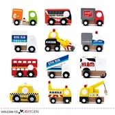 日單Wooden Mini Car 一套12款 不同功能木製模型車 玩具小車
