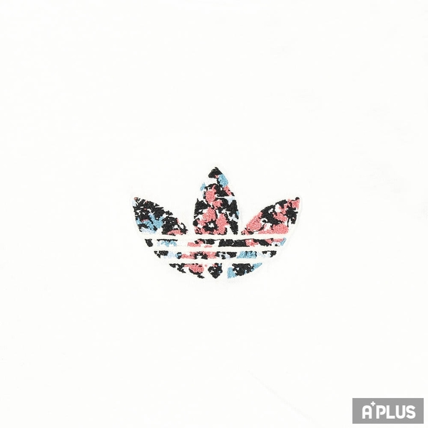 ADIDAS 女 圓領T(短) T-SHIRT 純棉 三葉草 刺繡 花卉-GN3042
