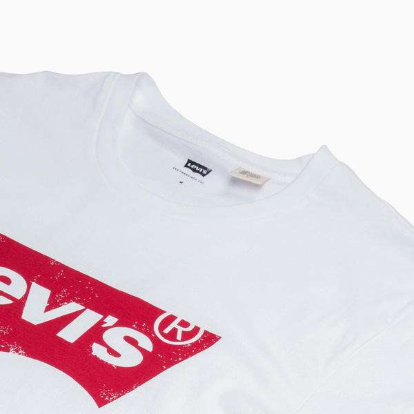 Levis 男款 短袖T恤 / 斑駁款LOGO / 白色