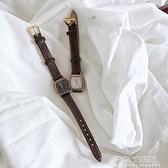 復古方形手錶女ins風學生時尚文藝簡約氣質小錶盤學院風百搭女錶 poly girl