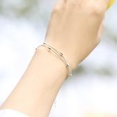 s925純銀雙層圓珠手鍊女  【新飾界】
