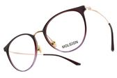 MOLSION 光學眼鏡 MJ6091 B30 (漸層紫-玫瑰金) Angelababy代言 摩登貓眼圓框款 眼鏡框 #金橘眼鏡
