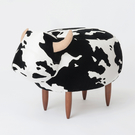 PUSH! 居家生活用品 牛哞哞小凳子小...