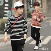 大尺碼男童套裝新款童裝兒童中大童運動兩件套12歲男孩潮衣 js10090『科炫3C』
