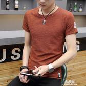 男士短袖t恤潮牌夏季新款韓版潮流大碼半袖體桖圓領男裝衣服     易家樂