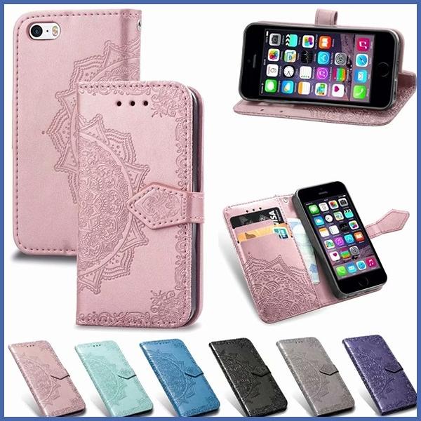 蘋果 iPhone XS MAX XR iPhoneX i8 Plus i7 Plus 曼陀羅皮套 手機皮套 壓紋 插卡 支架 磁扣 掀蓋殼