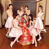 伴娘服短款聚會裙姐妹團顯瘦晚禮服