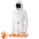 【Wildland 荒野 女款 輕量四層700FP中長羽絨衣 米白】0A32101/連帽外套/羽絨外套/保暖外套
