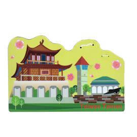 【收藏天地】台灣紀念品*軟膠冰箱貼-台南