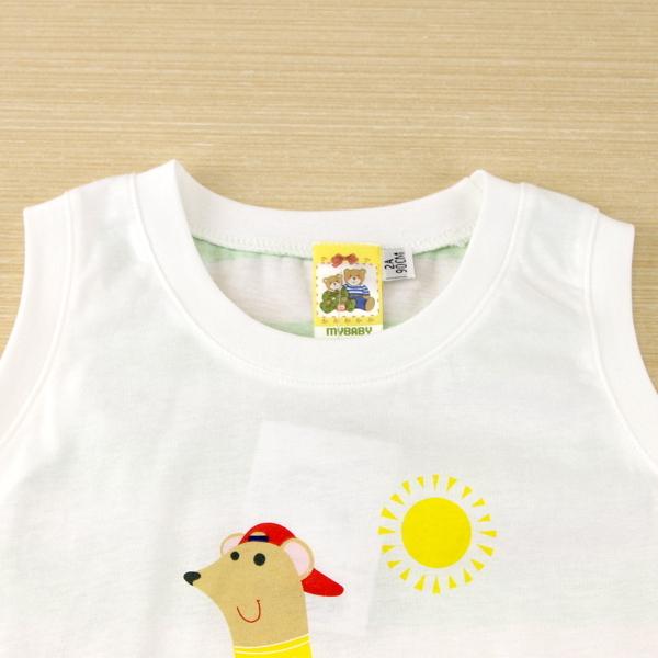 【愛的世界】純棉圓領後粗條紋無袖上衣/6~8歲-台灣製-  ---春夏上著 夏出清
