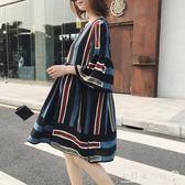 孕婦洋裝  孕婦裝夏裝上衣寬鬆大碼孕婦洋裝雪紡哺乳裙子夏時尚款新款  『歐韓流行館』