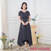 【RED HOUSE 蕾赫斯】綁帶長洋裝
