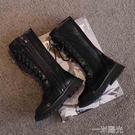 夏季中筒潮鞋高筒公主羅馬女童長靴鏤空透氣網面涼鞋涼靴馬丁網靴 一米陽光