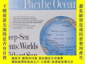二手書博民逛書店National罕見Geographic國家地理雜誌地圖系列之1992年6月 Pacific Ocean 太平洋海