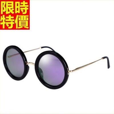 太陽眼鏡 偏光墨鏡-復古造型圓形大框獨具個性男女配件2色67f13【巴黎精品】