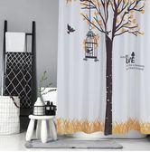 北歐創意洗澡衛生間防水絲滑滌綸浴簾布EY1556『M&G大尺碼』
