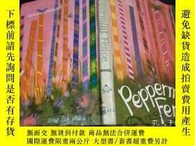 二手書博民逛書店原版英法德意等外文罕見PEPPERMINT FENCE 彩色插圖