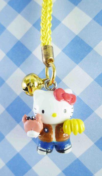 【震撼精品百貨】Hello Kitty 凱蒂貓~限定版手機吊飾-東京(香蕉)