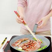 全館85折廚房筷加長火鍋筷防滑防燙手油炸筷家用撈面竹筷子2雙裝 森活雜貨