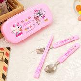 HELLO KITTY 筷子湯匙叉子三件式餐具組(MF0353)