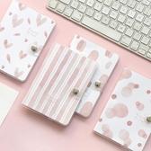 少女夢膠套本Z學生用粉色小清新膠套本記事本子手帳本Q