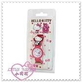 小花花日本精品♥ Hello Kitty 手錶卡通錶女錶卡通錶帶生日禮盒禮物桃色側姿99910907