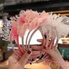 兒童發箍韓國女童皇冠頭箍公主可愛蕾絲頭飾發飾【聚可愛】