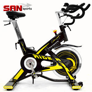 (福利品)M4雙頭龍20KG飛輪健身車+送贈品(5倍強度.20公斤)飛輪車室內腳踏車推薦【SAN SPORTS】