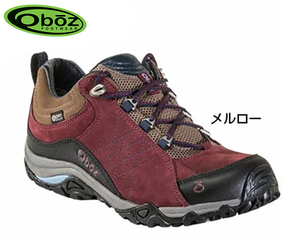 丹大戶外【Oboz】美國Sapphire Low B-DRY 女款 防水戶外低筒登山鞋 OB71602 MERL 酒紅