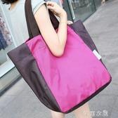 帆布包 大容量可折疊便攜購物袋超市購物包環保袋單肩女手提袋帆布袋買菜 芊惠衣屋