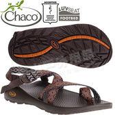 Chaco ZCM02_HD20橘錐能量 男越野運動涼鞋-Z2夾腳款 美國佳扣水陸兩用鞋/沙灘拖鞋/織帶運動鞋