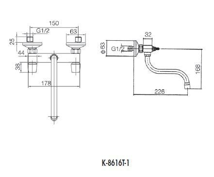 【麗室衛浴】美國第一品牌 KOHLER Sirocco® 廚房龍頭 K-8616T-1 (鉻)