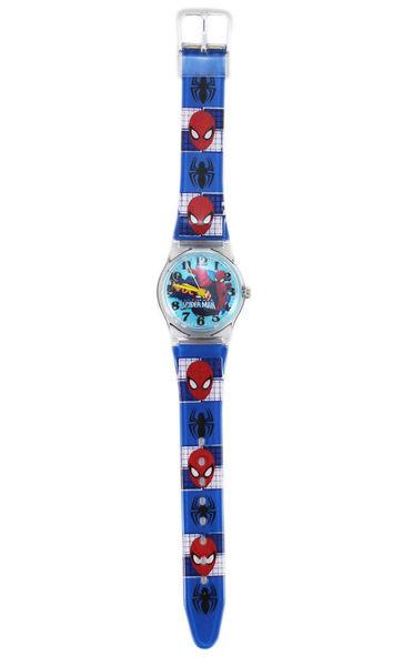 【卡漫城】 蜘蛛人 手錶 藍 格紋 ㊣版 Spiderman 蜘蛛俠 男童 卡通錶 男錶 兒童錶 小膠 2 4 9 元