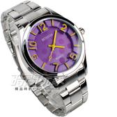BETHOVEN 水玉點點 時尚數字時刻腕錶 黃x紫 BE2022黃紫 防水手錶 女錶 鋼錶帶款