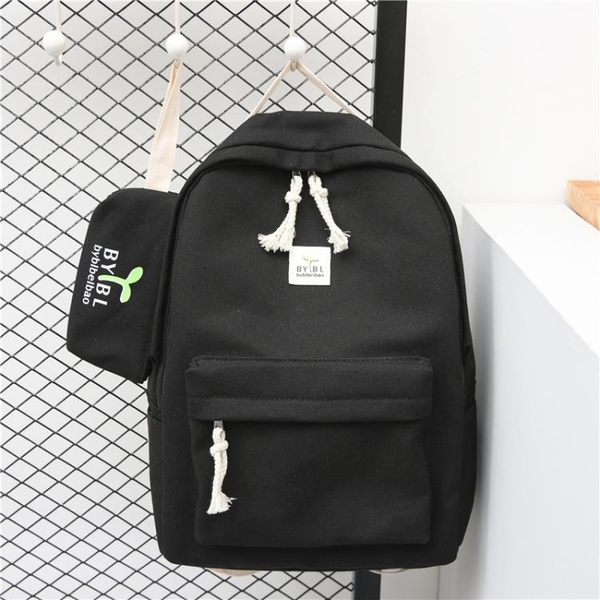 書包女學生韓版校園初中生簡約帆布高中學生背包小清新森系雙肩包