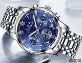 2019新款手錶男士全自動機械錶運動石英學生防水時尚夜光鋼帶腕錶 萬客城