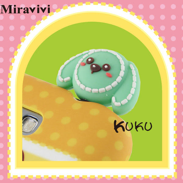Miravivi 可愛動物狂想曲系列耳機防塵塞-KuKu狗