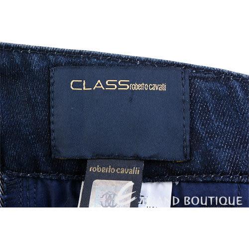 CLASS roberto cavalli 藍色排釦牛仔褲 1030411-34