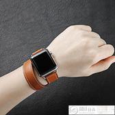 apple watch錶帶 apple watch錶帶愛馬仕蘋果iwatch1/2/3代雙圈手錶帶38/42mm 居優佳品
