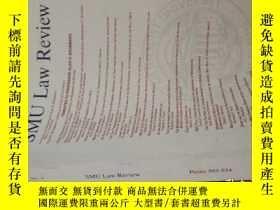二手書博民逛書店SMU罕見Law ReviewY12142 Southern M