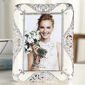 618好康鉅惠 奢華歐式相框擺臺創意婚紗照相片框相架6寸