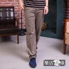 【7122】 超輕薄透氣伸縮休閒直筒商務褲(卡其)● 樂活衣庫