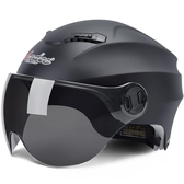 摩托車頭盔男電動車頭盔女士四季通用夏季防曬輕便安全帽個性酷 居享優品
