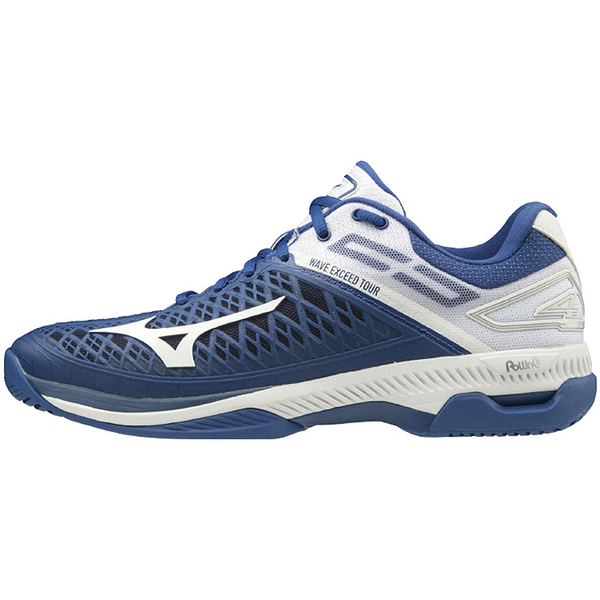 MIZUNO 網球鞋 WAVE EXCEED TOUR 4 AC系列 藍白 61GA207027 贈護腕 20SS