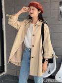新款韓版百搭中長款春秋氣質風衣小個子外套女寬鬆大衣潮   潮流前線
