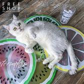 [現貨] 夏日涼感凝膠墊冰墊坐墊 降溫神器超可愛動物水果西瓜檸檬款 當寵物墊也能用【QZZZ7071】
